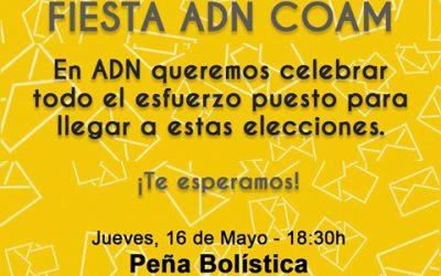 FIESTA ADN: Tras 2 años de trabajo por nuestro COAM y queremos celebrarlo contigo | 16 mayo | Peña Bolística |