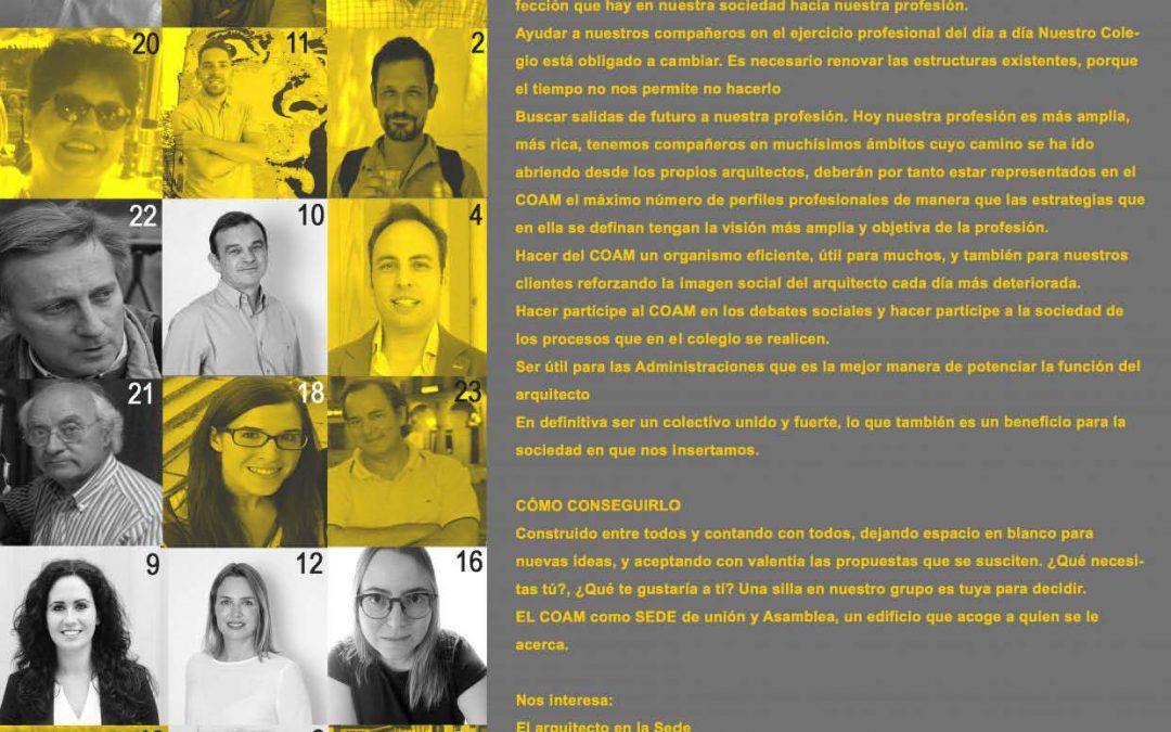 Elecciones 2017: Ideario ADN COAM y Lista de Candidatos 2017